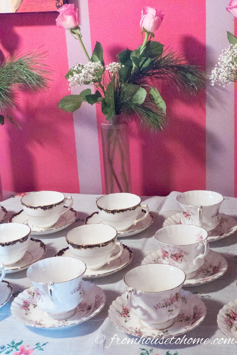 Traditional Tea Party Decor