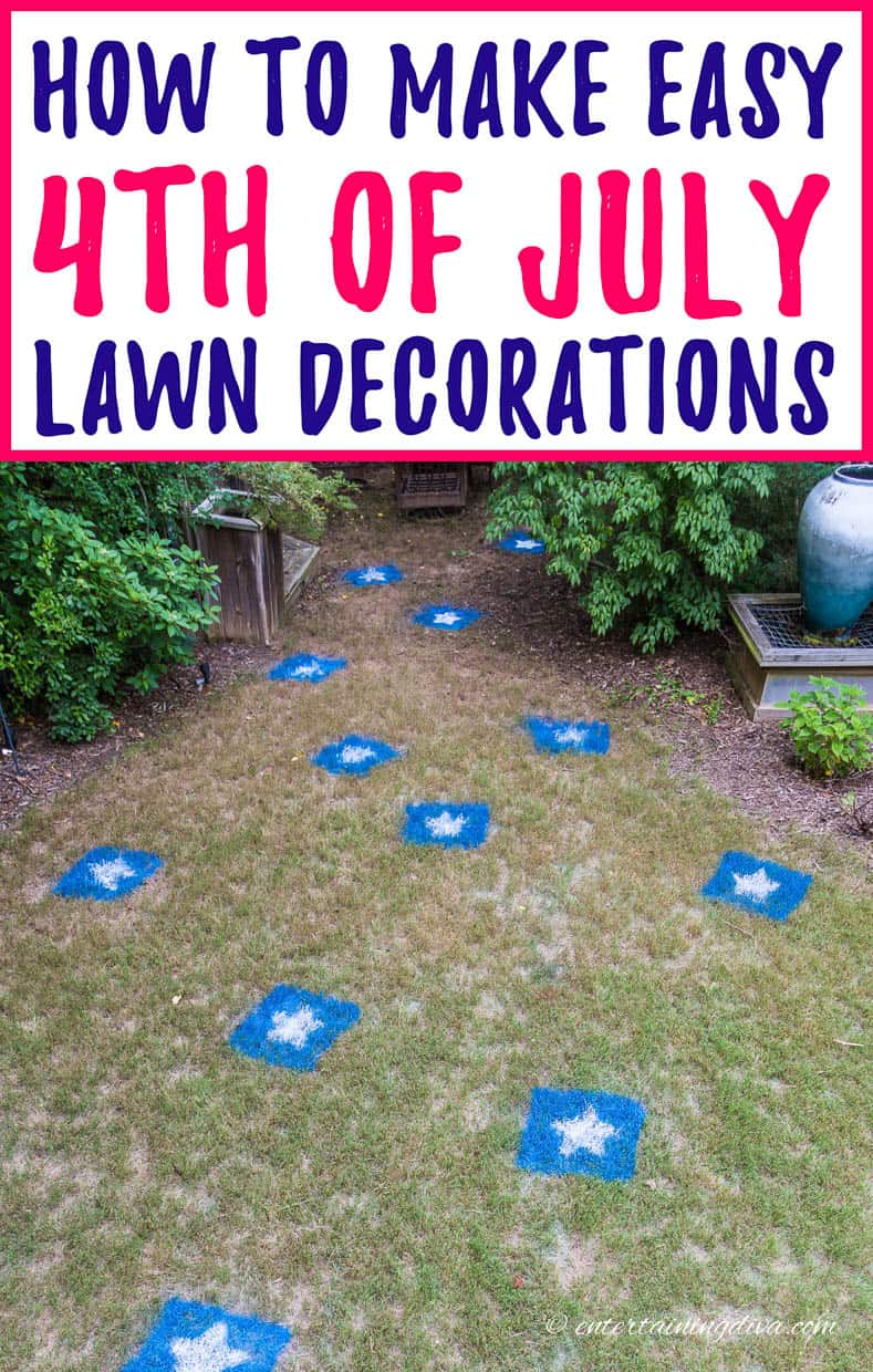 4th of july lawn decoration stars