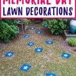 memorial day lawn decoration stars