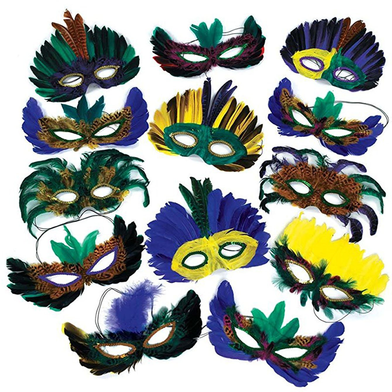 Mardi Gras party favor masks