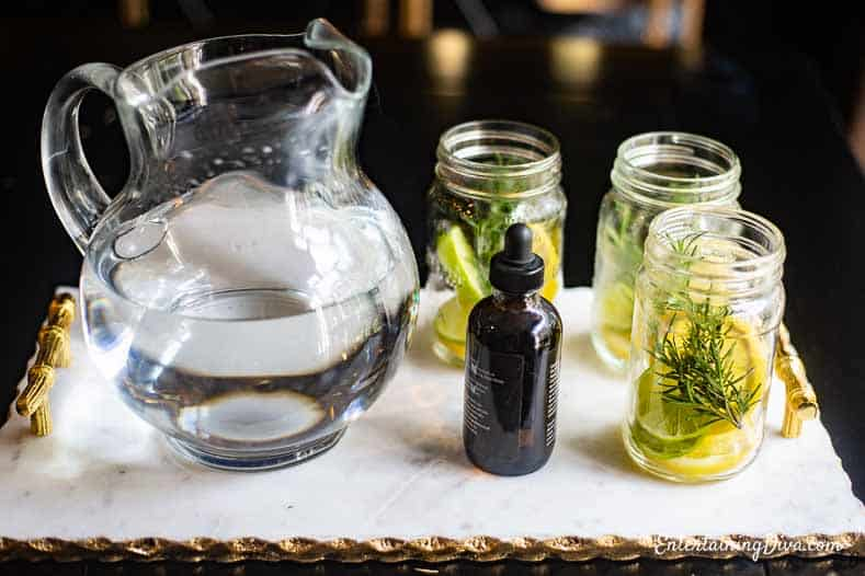DIY Citronella candles before the water is added
