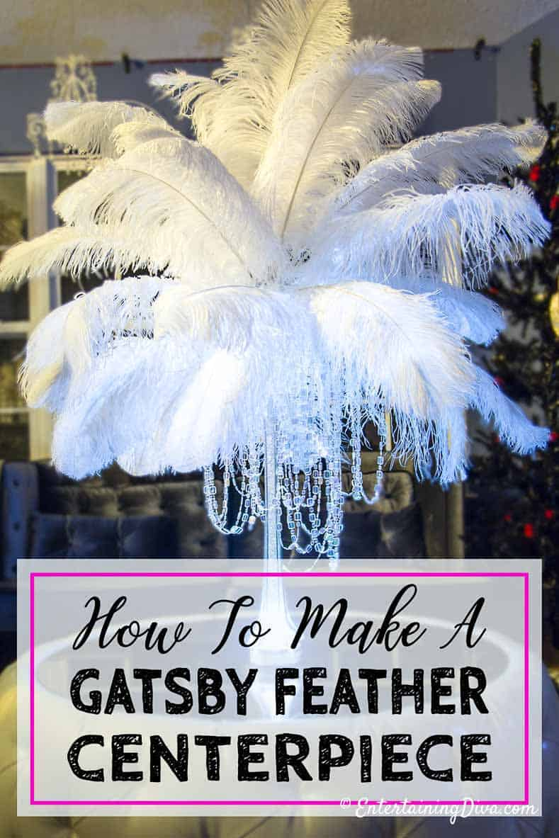 How to make gorgeous diy ostrich feather centerpieces