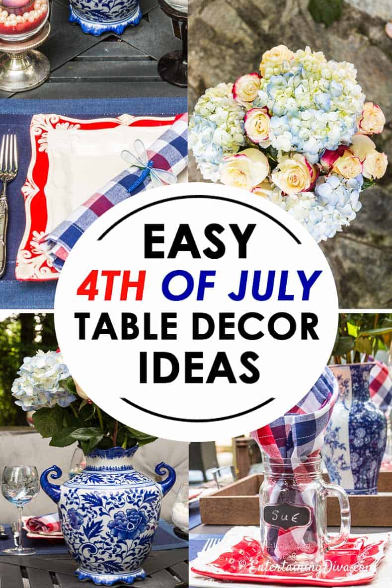 easy 4th of july table decor ideas