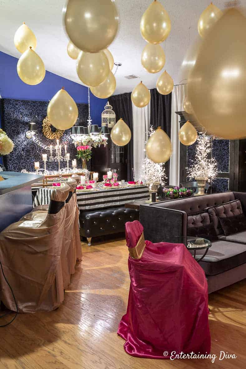 kate spade inspired party ideas balloons