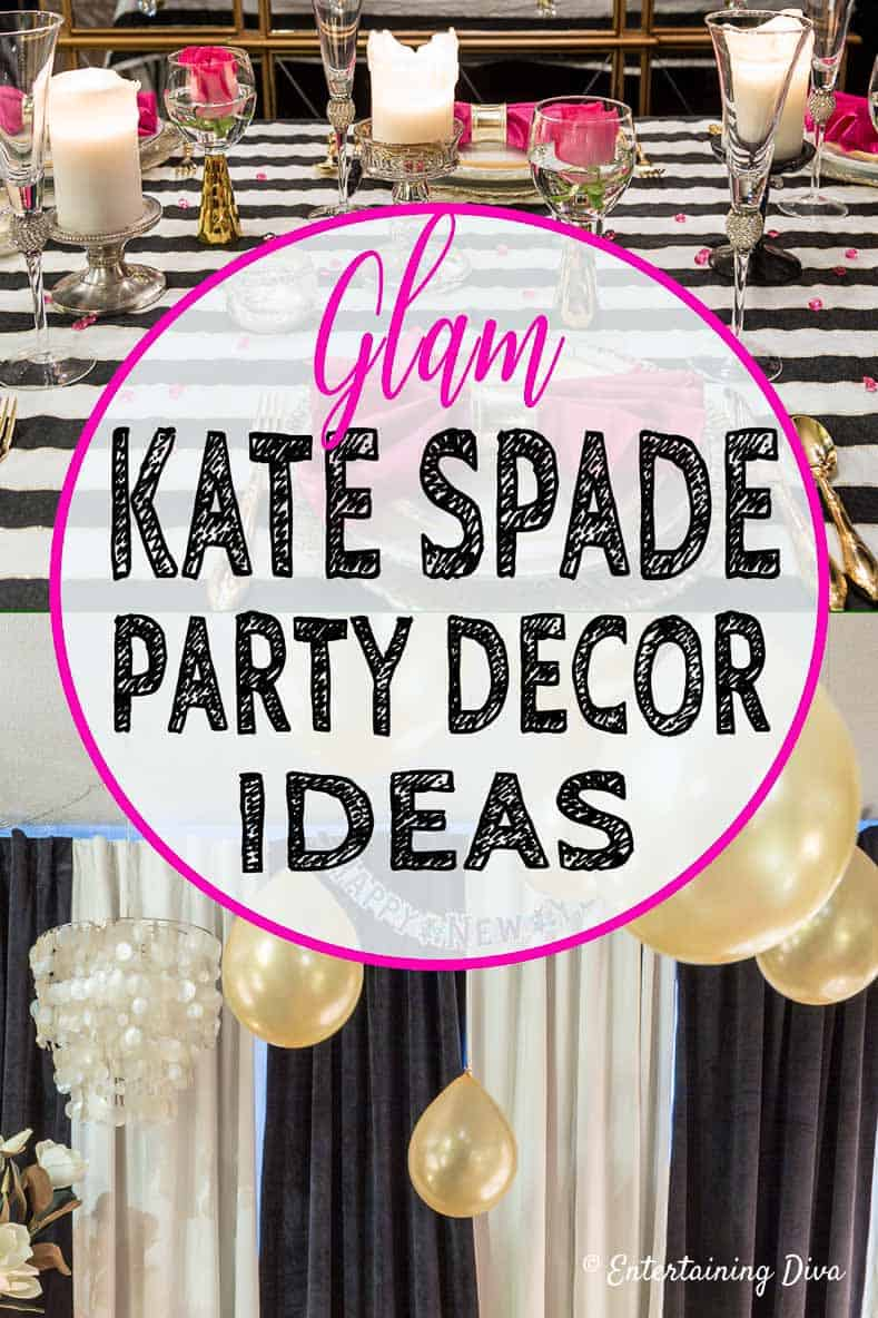 kate spade themed party decor ideas