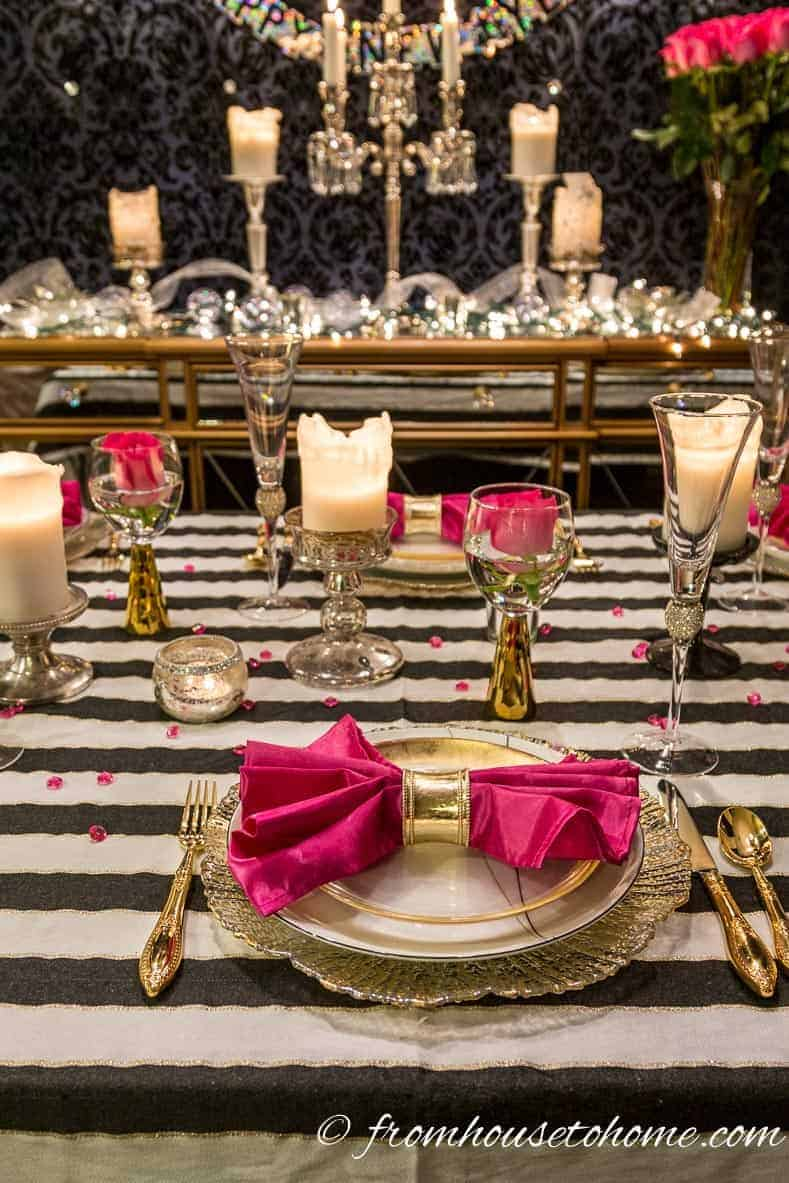 Kate Spade inspired tablescape