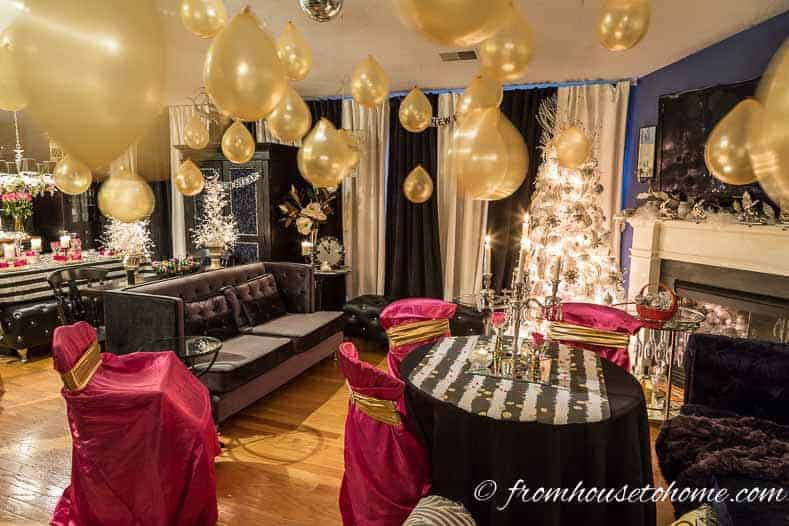 Kate Spade inspired New Year's Eve decor