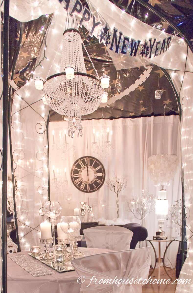 Winter Wonderland New Year's Eve party decorations