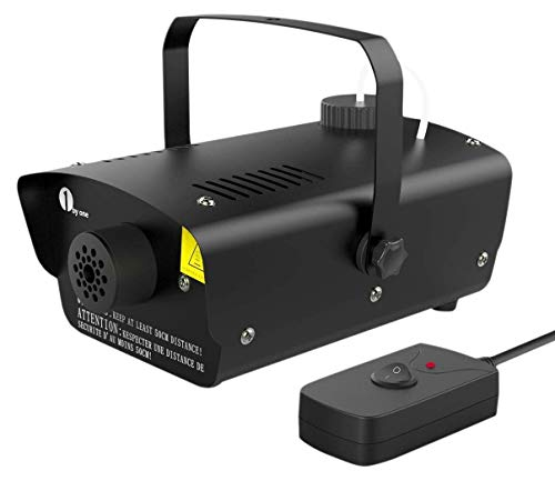 Fog machine with on/off switch