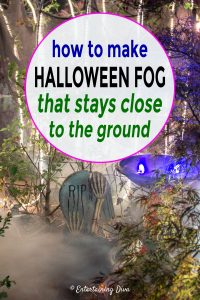 how to make Halloween fog that stays close to the ground