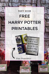 Awesome Harry Potter party printables