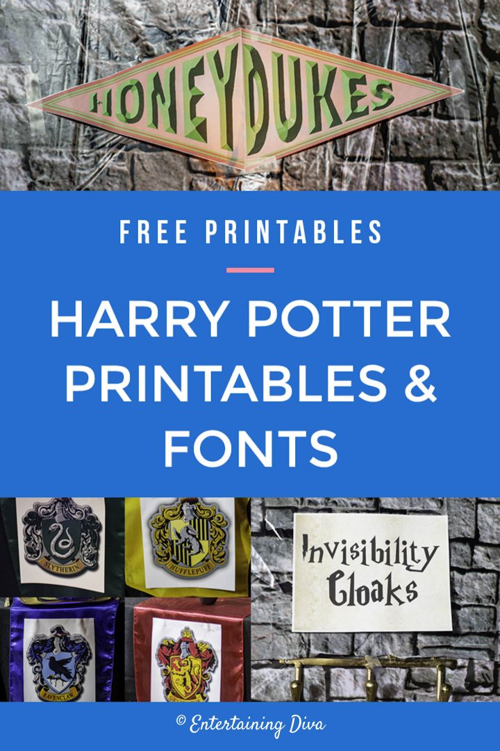 Free Harry Potter printables