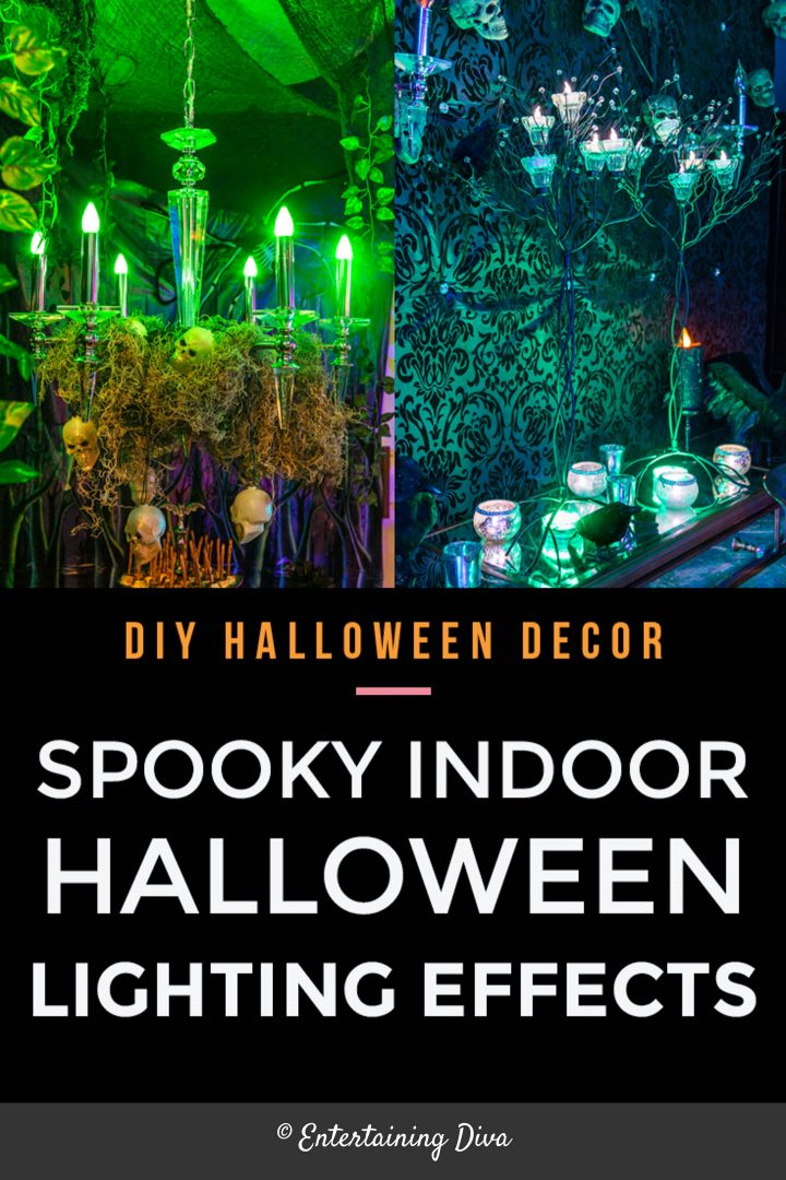 Indoor Halloween lighting effects and ideas