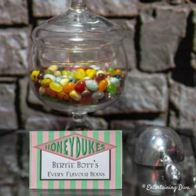 Bertie Botts Every Flavour Beans Harry Potter party printable sign