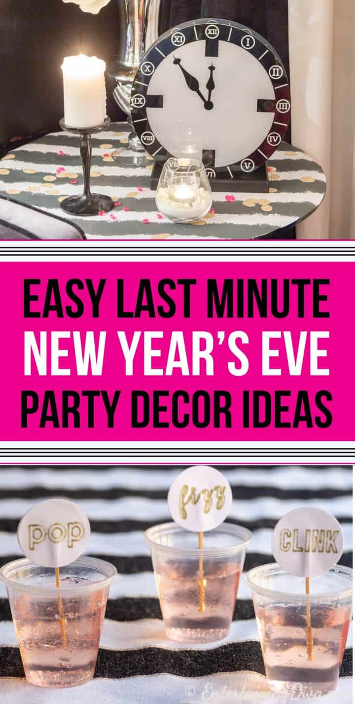 Last minute New Year's Eve party decorations ideas