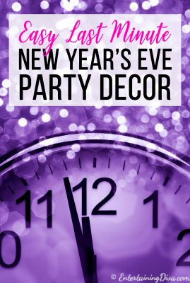 Easy last minute New Year's Eve party decorations ideas