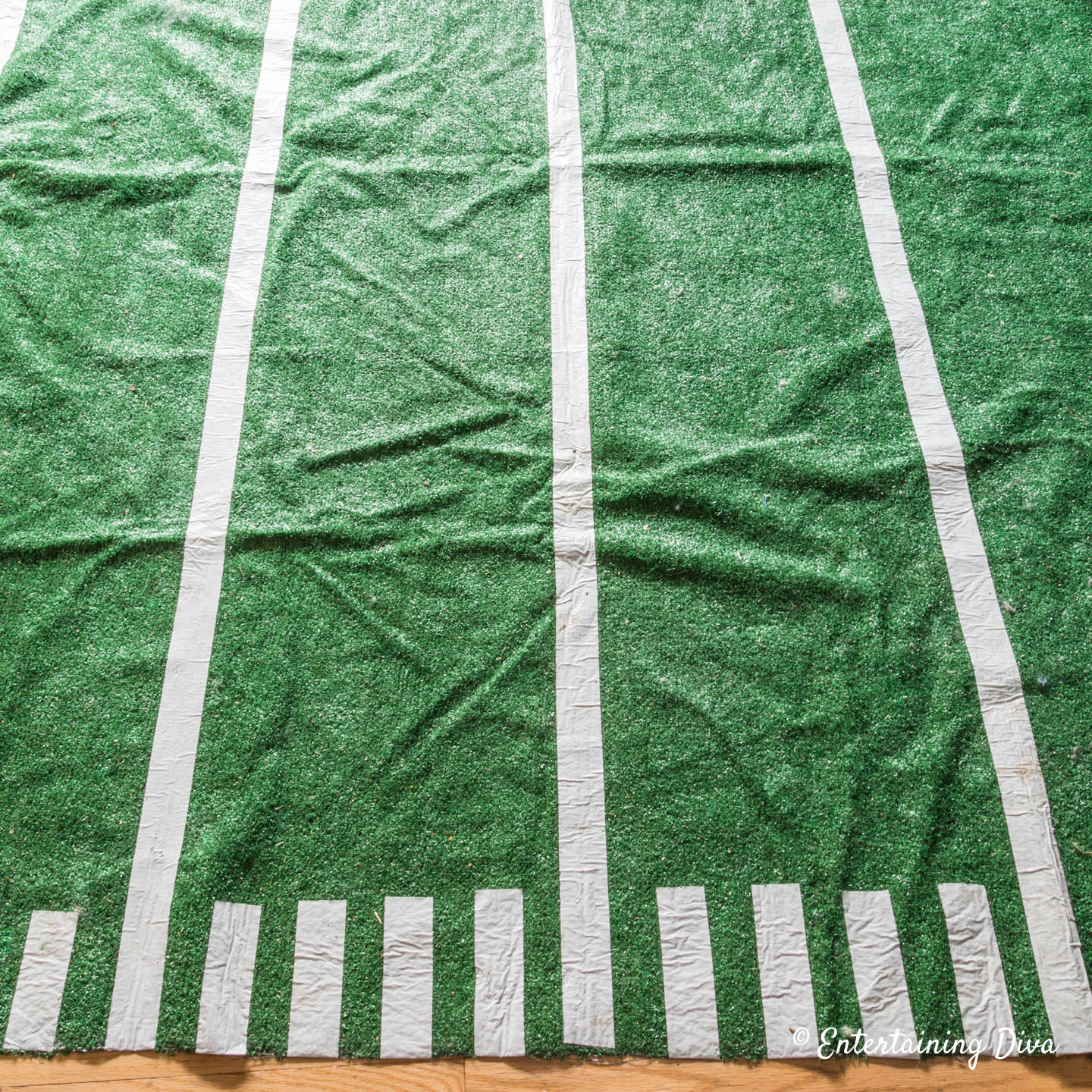 Easy Football Party Decor Diy Football Field Area Rug