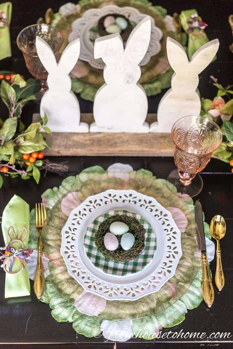 Easter table bunny centerpiece
