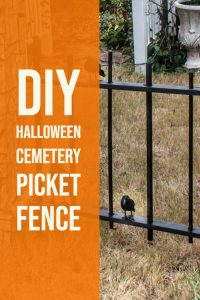 DIY Halloween picket fence