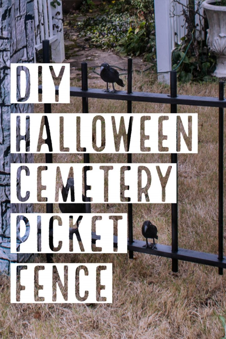 DIY Halloween graveyard fence