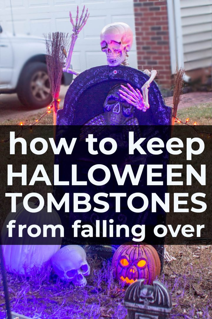 How To Keep Styrofoam Tombstones In The Ground