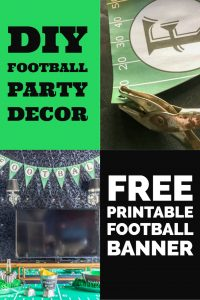 Free DIY printable football banner