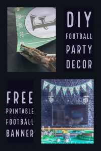 DIY football party decor: printable football banner