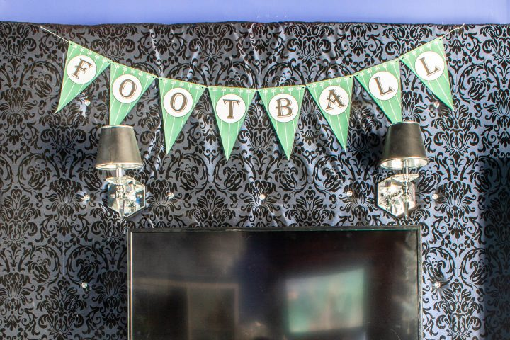 DIY printable football banner