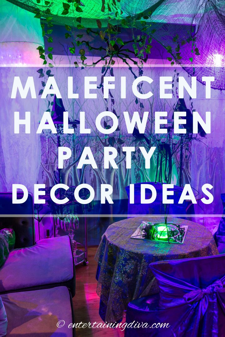 Maleficent party decor ideas