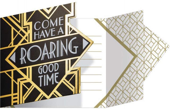 Great Gatsby pre-printed invitations