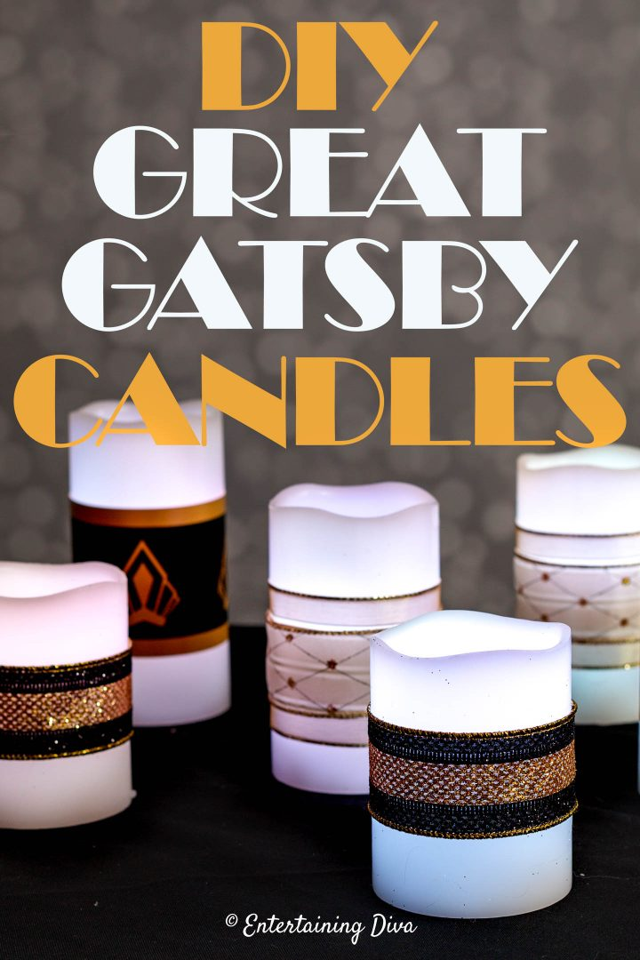 DIY Great Gatsby candles
