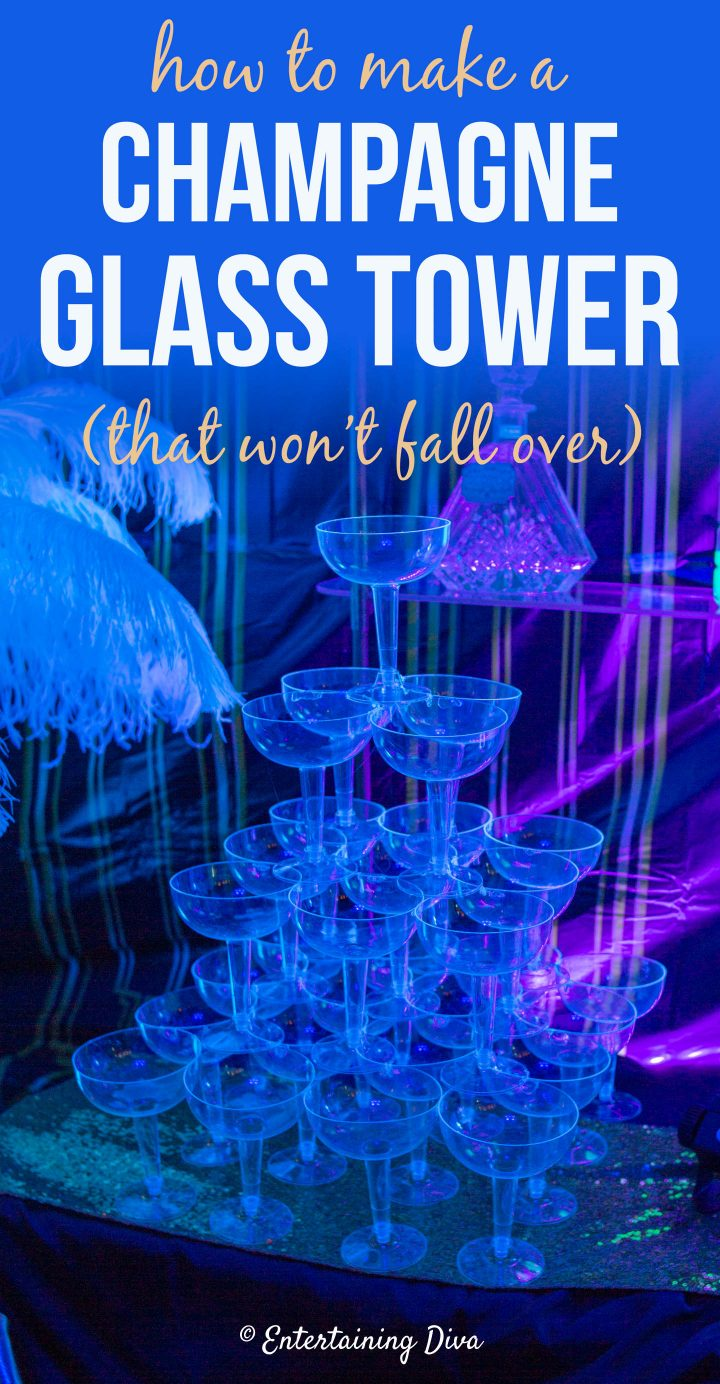 How to make a Champagne glass tower