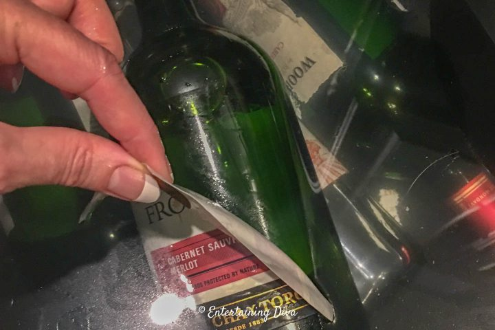 Pulling the labels off the bottles