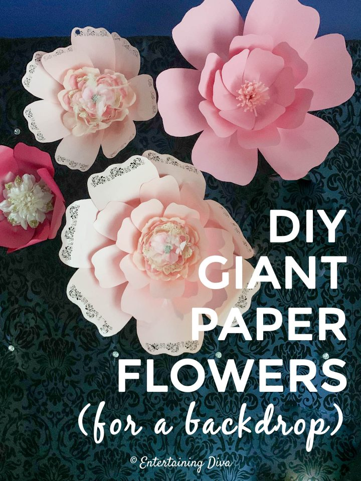 DIY giant paper flowers (for a backdrop)