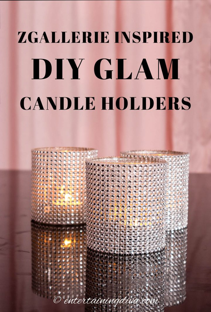 ZGallerie inspired DIY glam candle holders