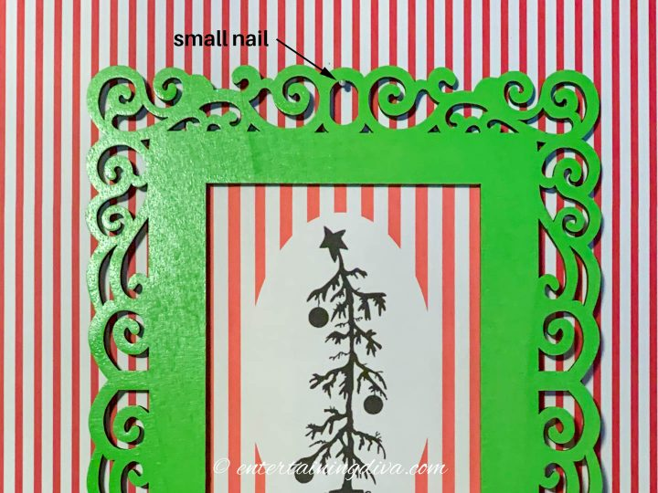 How to hang the DIY Grinch printable silhouette pictures on the wall