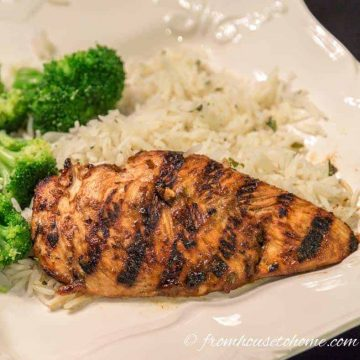 Basil Grilled Chicken Breast