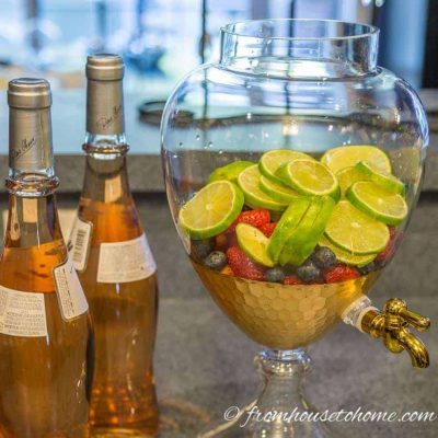 Add rose wine to the fruit