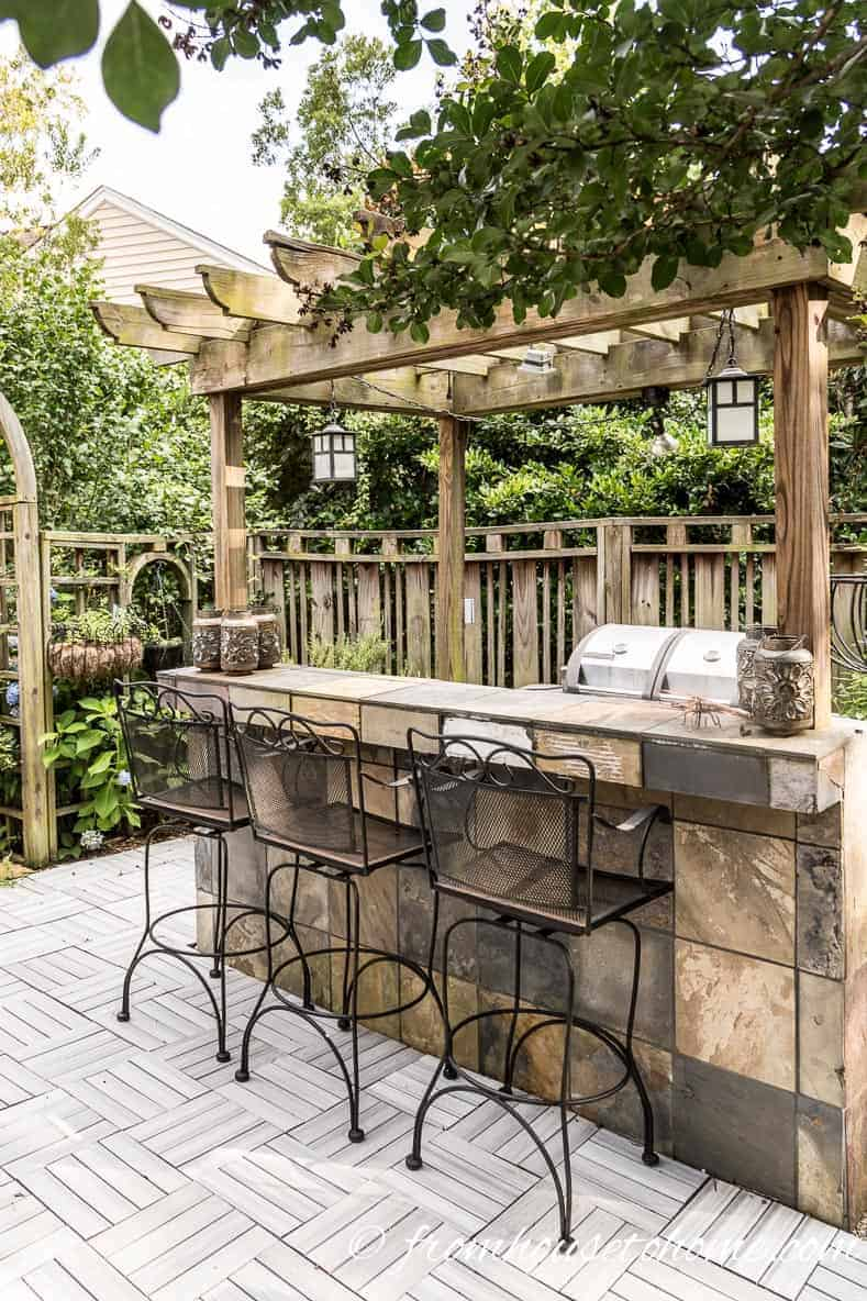 Building An Outdoor Bar On A Small Patio Provides A Good Place To Entertain