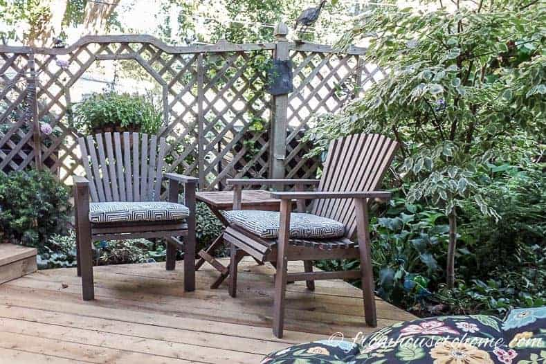 Building a screen around the deck can make it feel like a secret garden.
