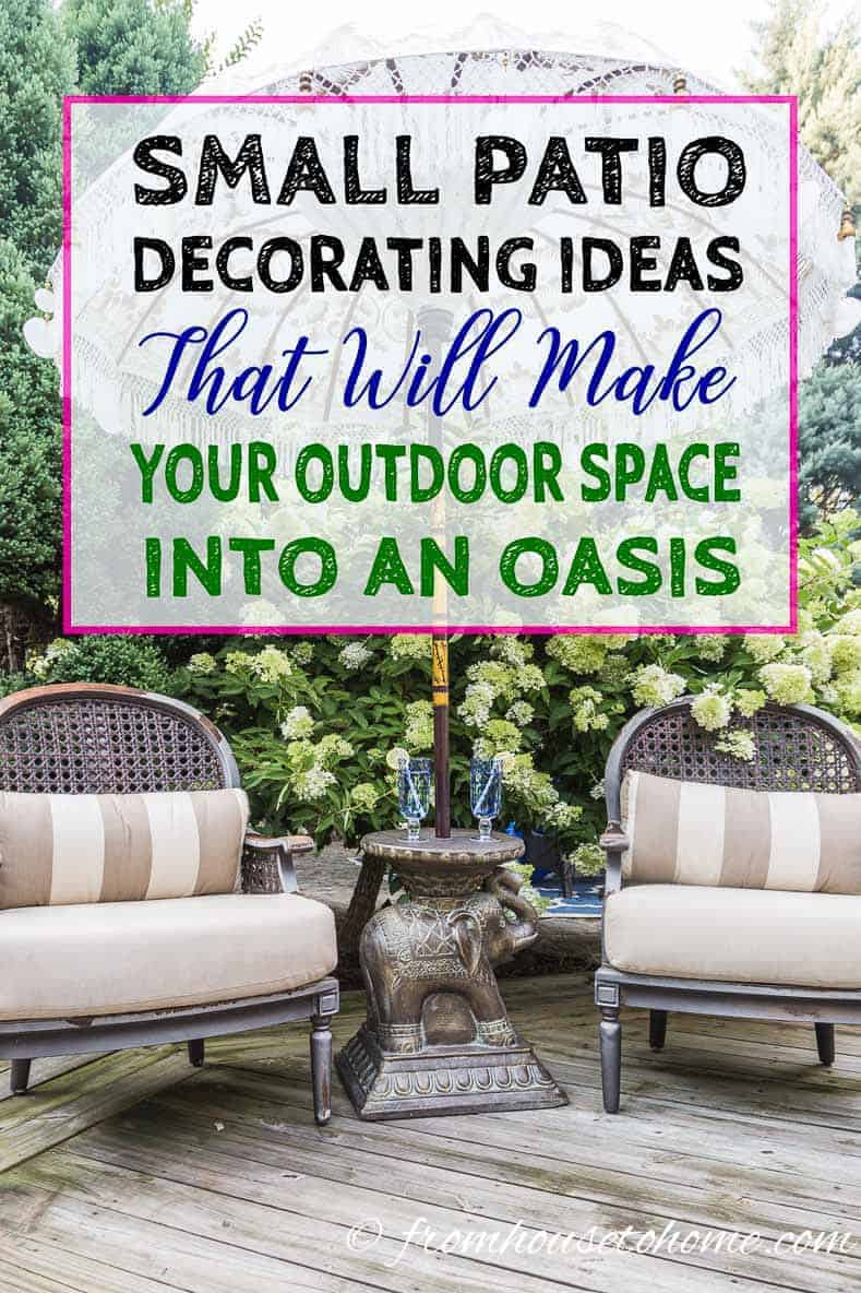 Small Patio Decorating Ideas That Make Your Deck Into An ... on Patio Decor Ideas id=94554