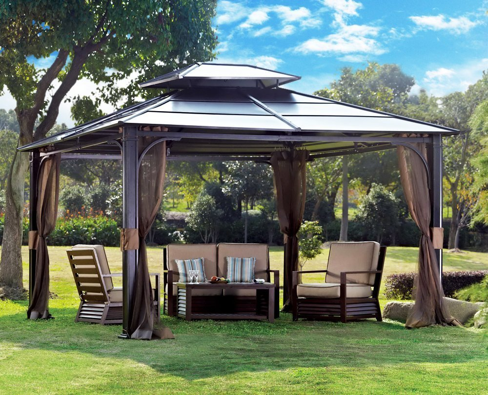 Metal outdoor gazebo