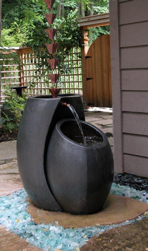 Rain Chain Fountain by Phyliss Warman