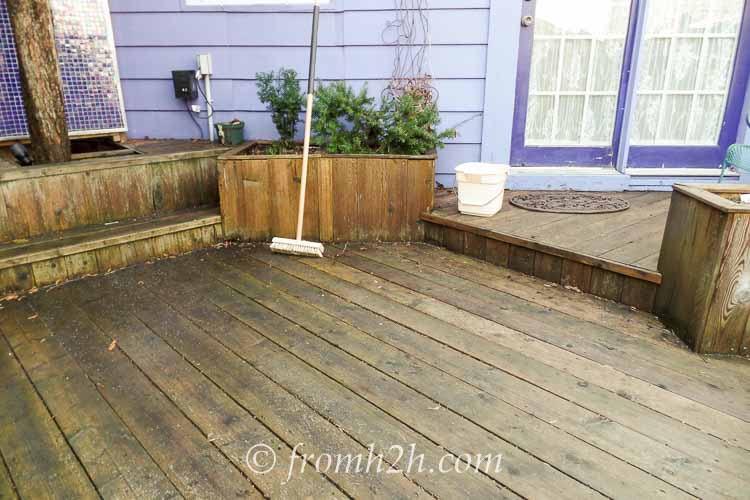 Wash and rinse the deck | How To Get Your Garden Ready For Spring