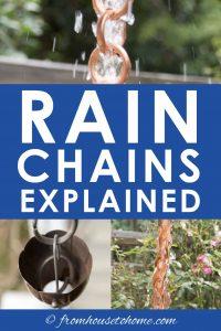 Rain chains explained