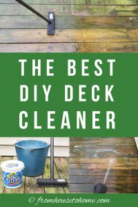 the best DIY deck cleaner