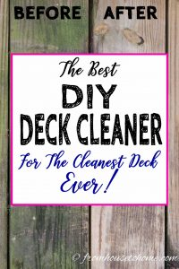 The best DIY deck cleaner with before and after comparison