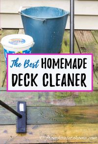 The best homemade deck cleaning solution