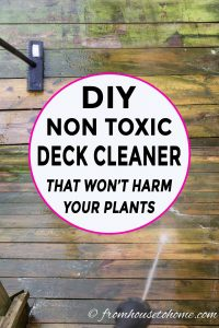Homemade deck cleaner