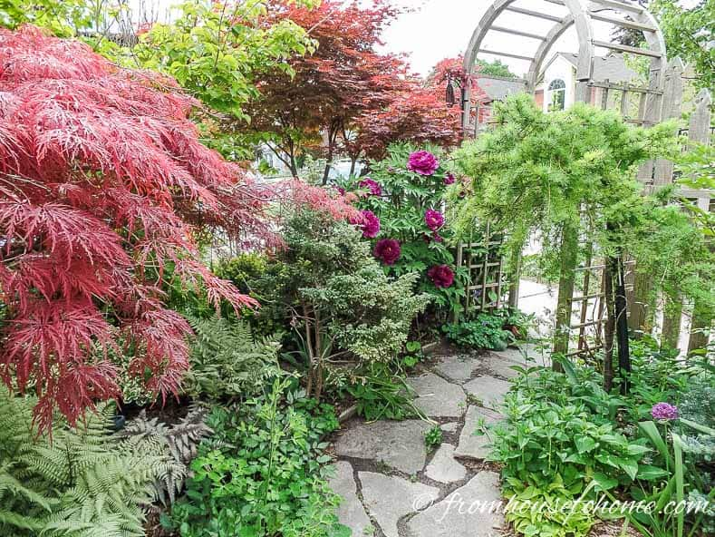 Layers of bushes look good and are easy to maintain | 10 Tips For Creating A Low Maintenance Garden